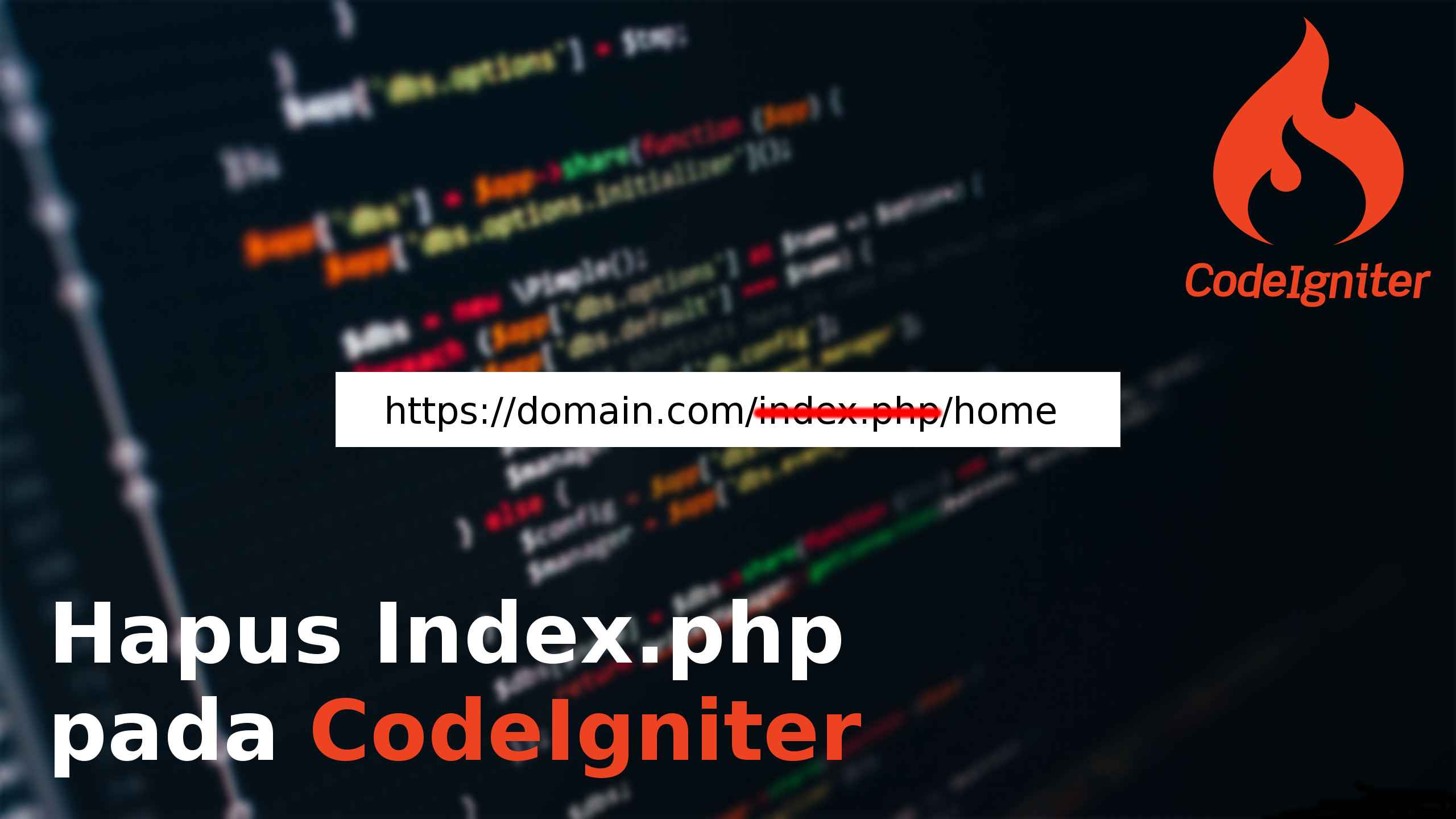 Menghilangkan index.php di CodeIgniter 3